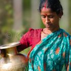 Indian woman carrying water, Andaman Islands, India