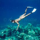 young woman snorkeling, Havelock Island, Andaman Sea, Andaman Islands, India