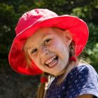 little girl laughing, Cevennes, France