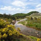 natural landscape with tarn river in Cevennes Nationalpark, France