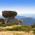 natural landscape with rocks in Cevennes Nationalpark, France, Europa
