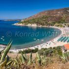 Bay and beach of Cavoli, Elba, Italy