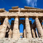 Poseidone Temple, Neptune Temple, historic town of Paestum in the Gulf of Salerno, Capaccio, Campania, Italy, Europe