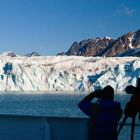 Monaco Glacier, cruise ship, Spitsbergen, Norway