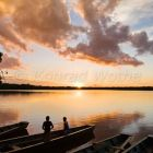 sunset at Sandoval Lake, Tambopata National Reserve, Peru, South America